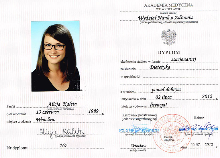 Dyplom licencjata