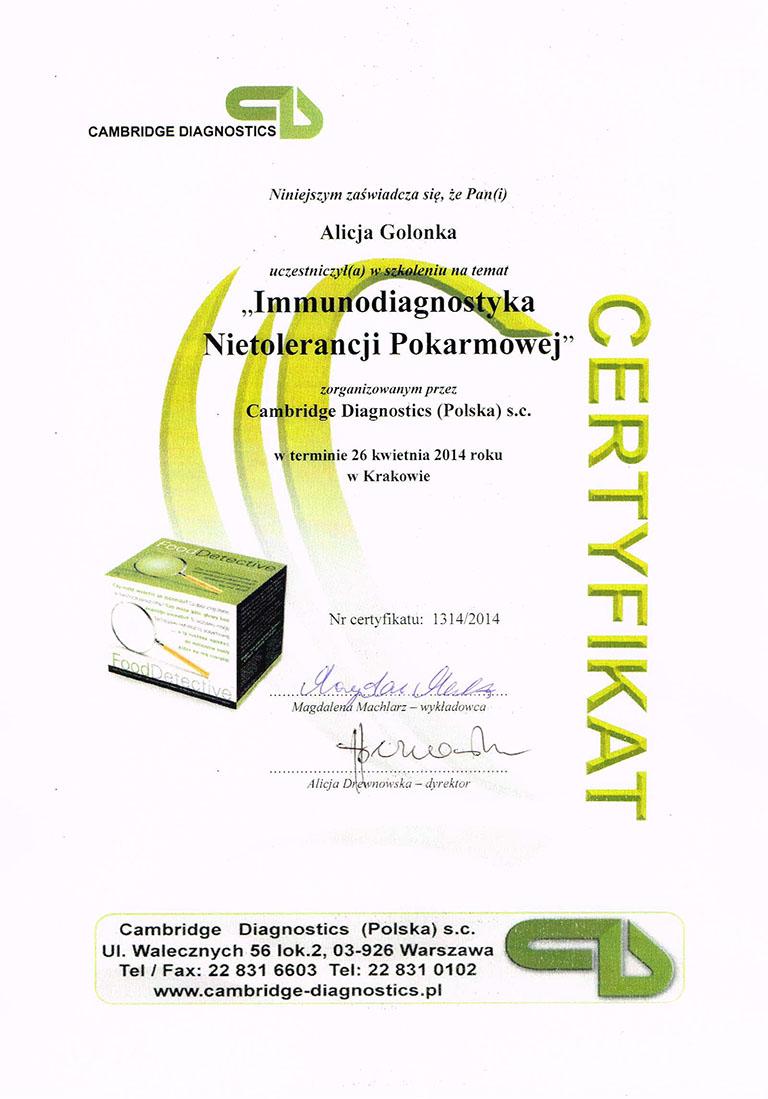Immunodiagnistyka Nietolerancji
