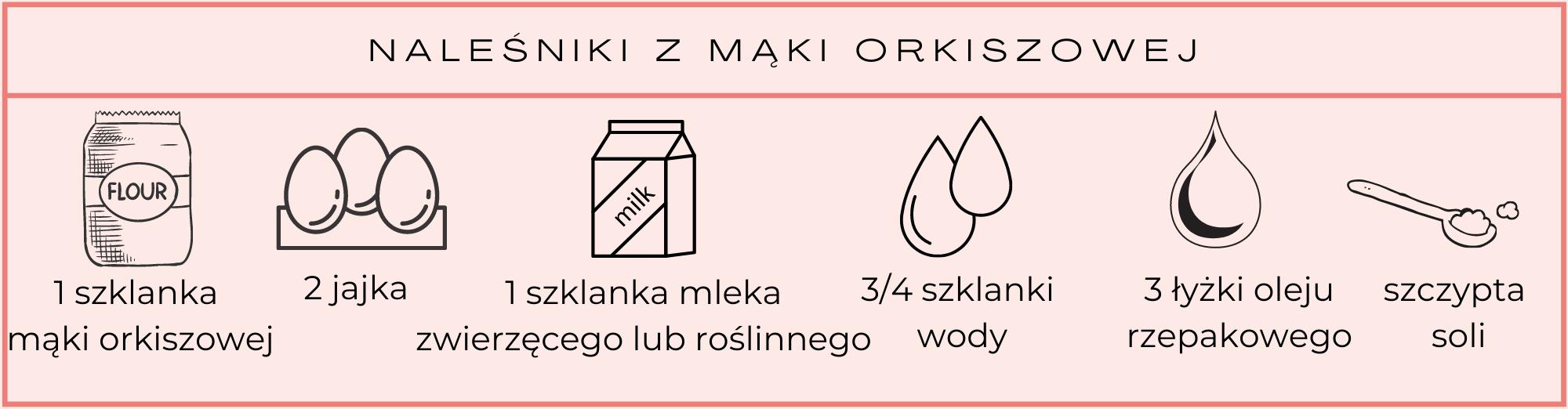 naleśniki z mąki orkiszowej