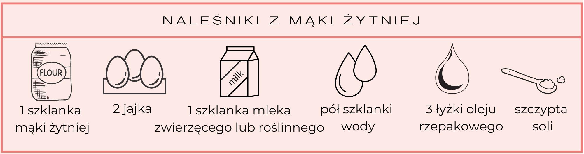 naleśniki z mąki żytniej