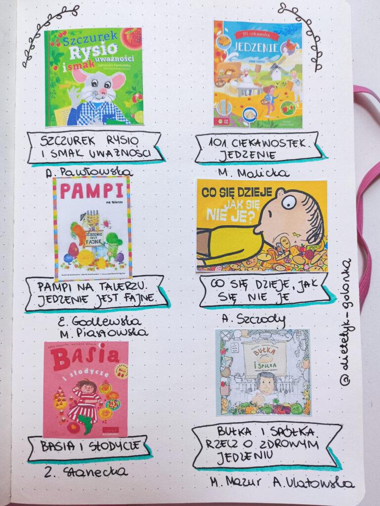 Książki o jedzeniu dla dzieci
